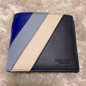 ✨New Coach 3-IN-1 WALLET WITH DIAGONAL STRIPE✨
